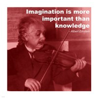Einstein Imagination Quote Framed Print