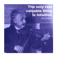 Einstein Intuition Quote Fine-Art Print