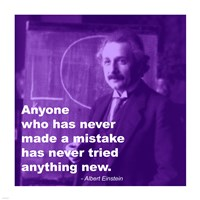 Einstein Try Something New Quote Fine-Art Print