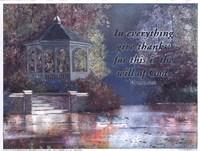 Swans/Gazebo (verse) Fine-Art Print