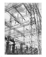Photograph Looking Up at Wires of the Boulder Dam Power Units, 1941 Fine-Art Print