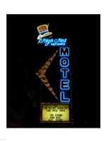 High Hat historic motel, Las Vegas, Nevada Framed Print