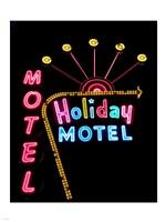 Holiday Motel, Las Vegas, Nevada Framed Print