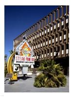 The Flame Restaurant sign Freemont street Las Vegas Framed Print