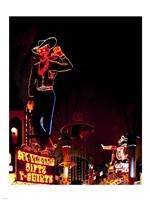 Vegas Vic on Freemont Street in Las Vegas Framed Print