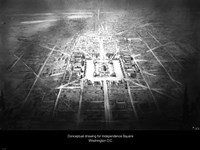 Conceptual drawing for Independence Square, Washington DC Fine-Art Print