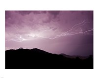 Cloud to cloud lightning strike Fine-Art Print