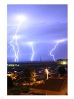 Lightning over Oradea Romania Fine-Art Print
