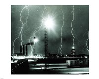 Lightning storm over Boston - 1967 Fine-Art Print
