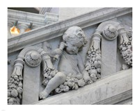 Library of congress architecture detail Fine-Art Print
