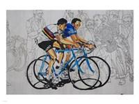 Murales coppi bicycles Fine-Art Print