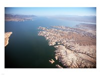 Aerial view, Lake Mead near Las Vegas, Nevada and the Grand Canyon Fine-Art Print