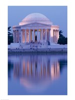 Jefferson Memorial Reflection At Dusk, Washington, D.C., USA Fine-Art Print