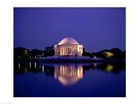 Jefferson Memorial Lit At Dusk, Washington, D.C., USA Fine-Art Print