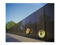 Wreaths on the Vietnam Veterans Memorial Wall, Vietnam Veterans Memorial, Washington, D.C., USA Fine-Art Print