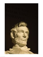 High section view of a statue, Lincoln Memorial, Washington DC, USA Fine-Art Print