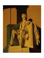 Low angle view of a statue, Lincoln Memorial, Washington DC, USA Fine-Art Print