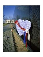 Close-up of a memorial, Vietnam Veterans Memorial Wall, Vietnam Veterans Memorial, Washington DC, USA Fine-Art Print