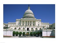 Low angle view of a government building, Capitol Building, Washington DC, USA Fine-Art Print