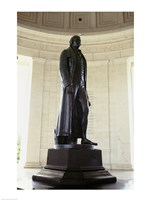 Statue of Thomas Jefferson in a memorial, Jefferson Memorial, Washington DC, USA Fine-Art Print