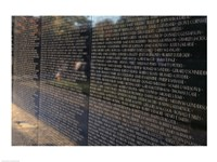 Text on a memorial wall, Vietnam Veterans Memorial Wall, Vietnam Veterans Memorial, Washington DC, USA Fine-Art Print