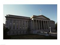 Facade of a financial building, Department of the Treasury, Washington DC, USA Fine-Art Print