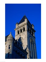 Low angle view of a post office, Old Post Office Building, Washington DC, USA Fine-Art Print