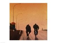 Biking at dusk Fine-Art Print