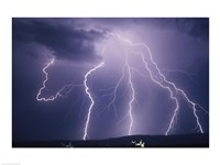 Lightning bolts striking the earth Fine-Art Print