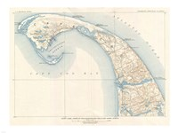 1908 U.S. Geological Survey Map of Provincetown, Cape Cod, Massachusetts1908 Fine-Art Print