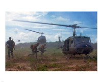 UH-1D helicopters in Vietnam 1966 Fine-Art Print