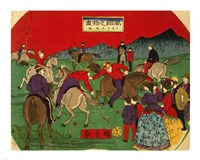 Hiroshige polo Fine-Art Print