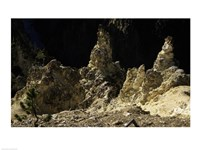 Rock formations at a canyon, Grand Canyon of the Yellowstone, Yellowstone River, Yellowstone National Park, Wyoming, USA Fine-Art Print