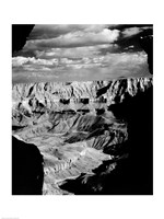Grand Canyon National Park (wide angle, black & white) Fine-Art Print