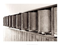 Tibetan Prayer Wheels Fine-Art Print