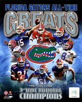 University of Florida Gators All Time Greats Composite Fine-Art Print