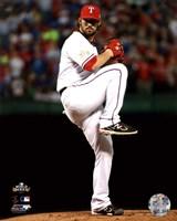 C.J. Wilson Game 5 of the 2011 MLB World Series Action(#20) Fine-Art Print