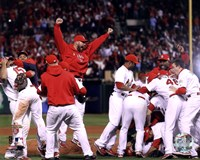 The St. Louis Cardinals Celebrate Winning World Series in Game 7 of the 2011 World Series (Team Celebration) Fine-Art Print