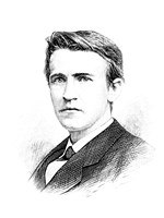 Thomas A Edison etching Fine-Art Print