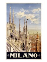 Milano Travel Poster Fine-Art Print