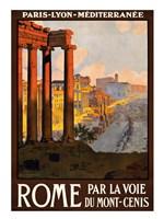 Rome par la voie du Mont-Cenis, travel poster 1920 Fine-Art Print
