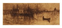 A rainy night, Venice Fine-Art Print