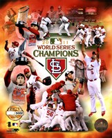 St. Louis Cardinals 2011 World Series Champions PF Gold Composite Fine-Art Print