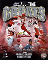 St. Louis Cardinals All Time Greats Composite Fine-Art Print