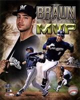 Ryan Braun 2011 NL MVP Portrait Plus Fine-Art Print