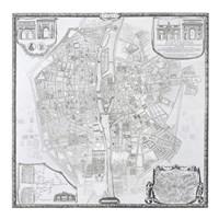 1676 Plan de Bullet et Blondel Fine-Art Print