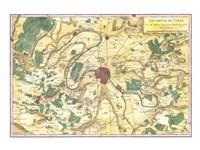 1780 Bonne Map of the Environs of Paris, France Fine-Art Print