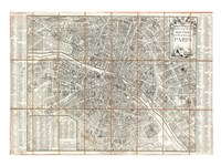 1780 Esnauts and Rapilly Case Map of Paris Fine-Art Print