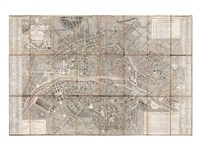 1797 Jean Map of Paris and the Faubourgs, France Fine-Art Print