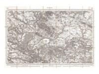 1852 Depot de Guerre Map of Paris and its Environs, France Fine-Art Print